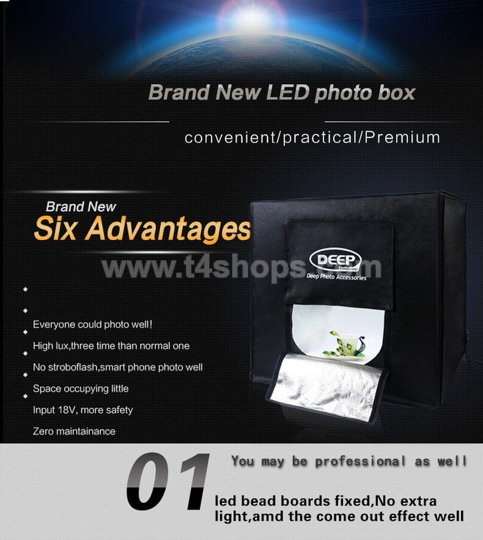 Studio Box DEEP Photograpy Box 80x80x80 Light Tent Professional