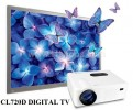 Cheerlux CL720d LED Projector 3000 Lumens Digital TV + TV Tunner